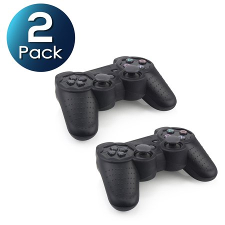 Insten Black Soft Silicone Skin Case (2 Pack) For Sony PS3 Controller (Ps3 Superman Controller Skin)