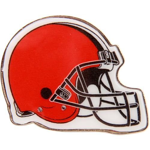 """Cleveland Browns WinCraft 1"""" x 1"""" Helmet Logo Pin - Orange - No Size"""