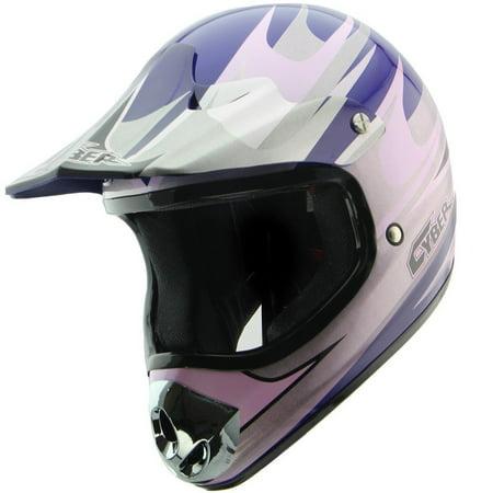 Cyber Helmets Cyber Helmets UX-10 Blue/Silver Motocross Helmet Blue Small ()