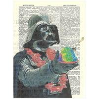 Art N Wordz Star Wars Darth Vader Aloha Original Dictionary Sheet Pop Art Wall or Desk Art Print Poster