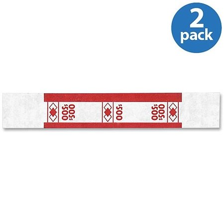 (2 Pack) PM Currency Straps, Red (Red Seal Currency)