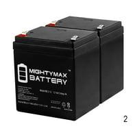 """ML5-12 - 12V 5AH Battery for Razor E100 E125 E150 E175 Electric Scooter - 2 Pack"""