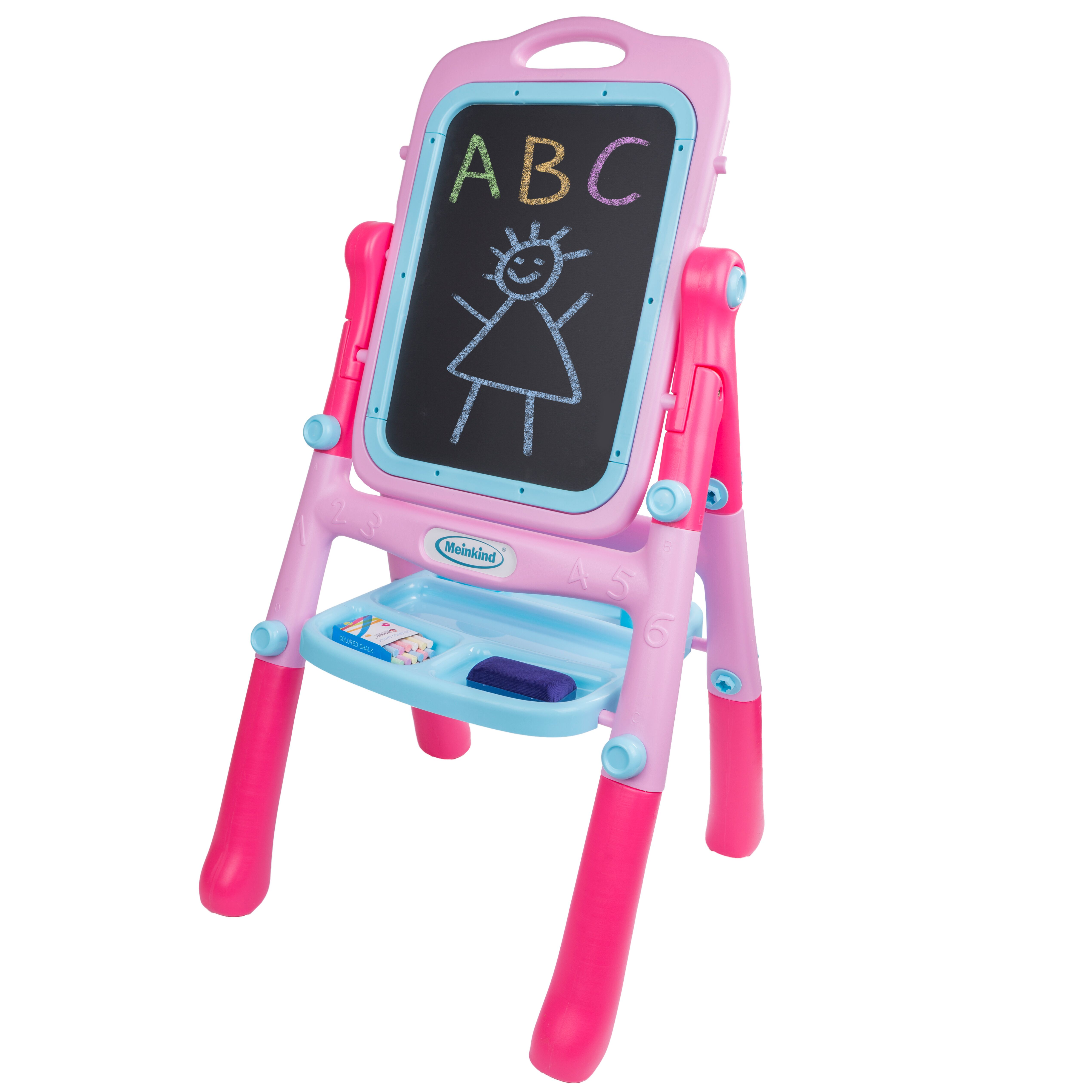 Deluxe Double-Sided Children's Art Easel - Pink