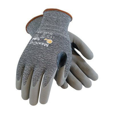 X-Large MaxiFlex Cut by ATG Black Micro-Foam Nitrile Dipped Palm And Finger Coated Work Glove With Continuous Knitwrist, Protective Industrial Products X-Large.., By Protective Industrial Products