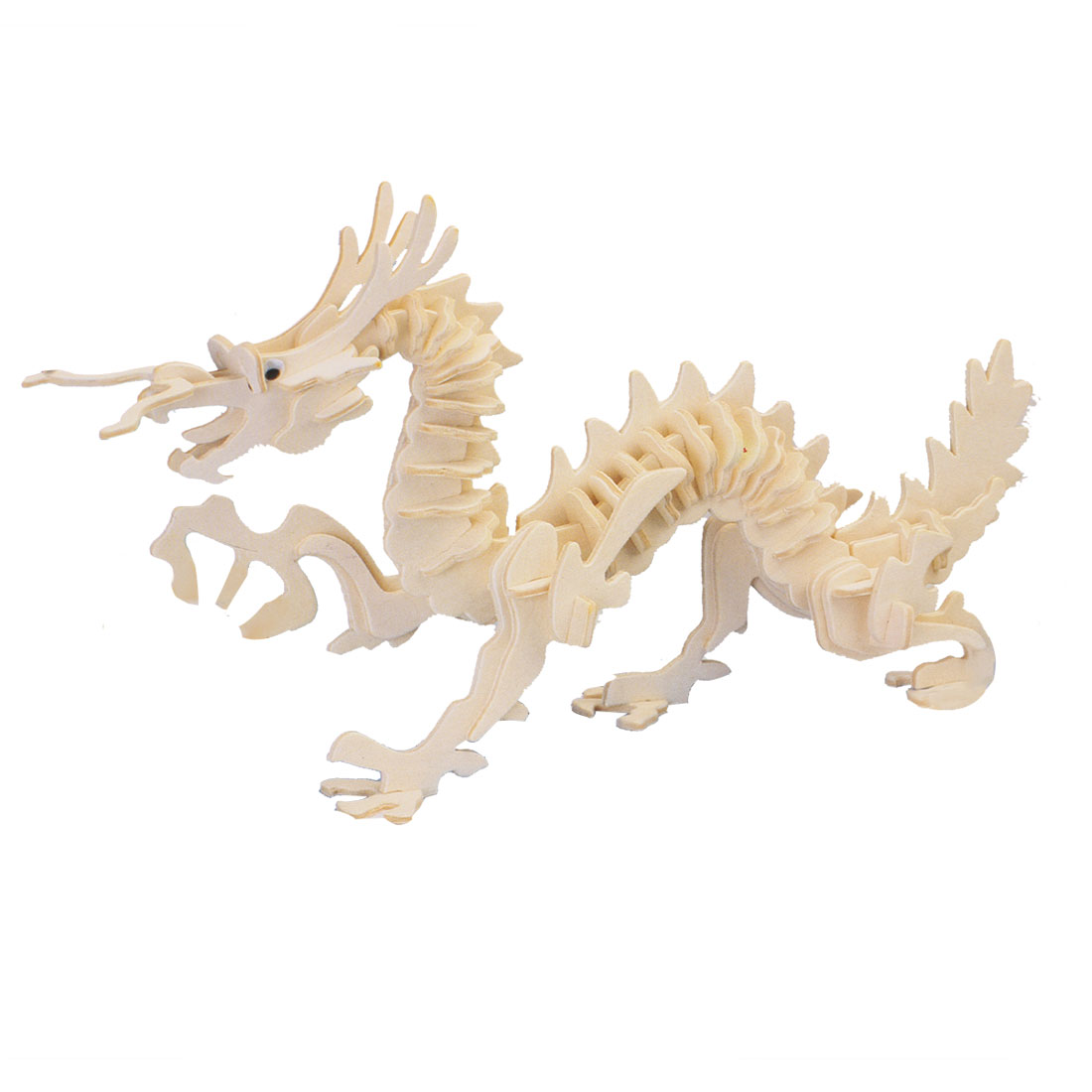Self Assemble 3D Dragon Model DIY Toy Wooden Jigsaw Construction Kit by