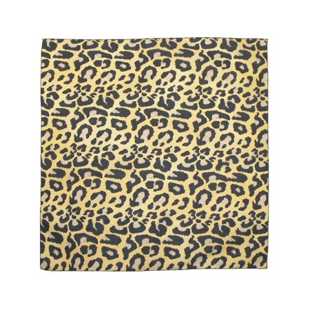 CTM®  Womens Cotton Leopard Print Bandanas, Tan