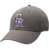 Men's Charcoal Colorado Rockies Basic Adjustable Hat - OSFA