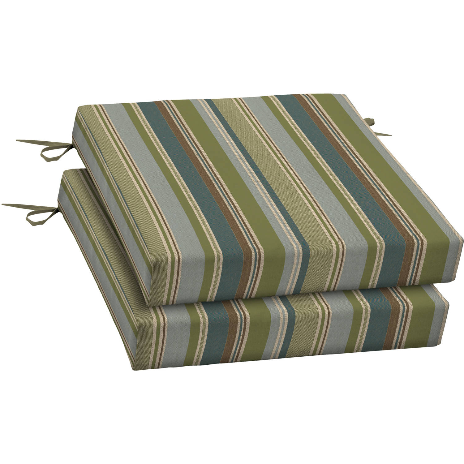 Mainstays Outdoor Dining Seat Cushion with Handle Set of 2