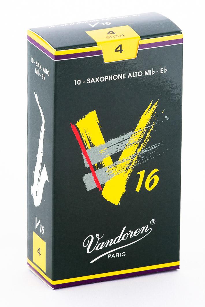Vandoren Alto Sax V16 Reeds Strength #4; Box of 10 by Vandoren