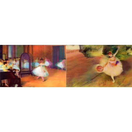 Edgar Degas: 2 Lenticular 3D Postcard Greeting Cards -