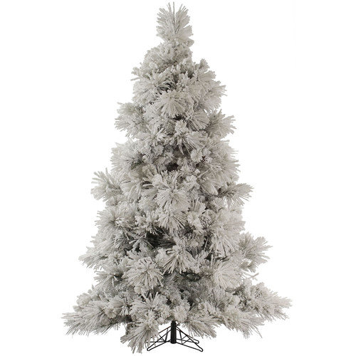 Vickerman Flocked Pocono 7.5' White Pine Artificial Christmas Tree