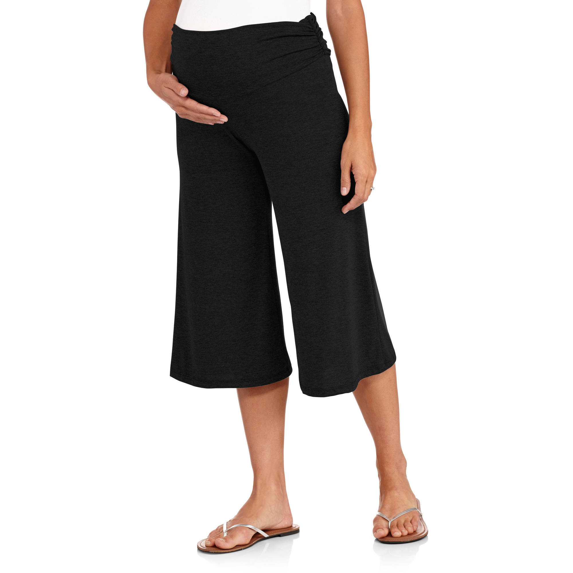 Planet Motherhood Maternity Gaucho Pants - Walmart.com