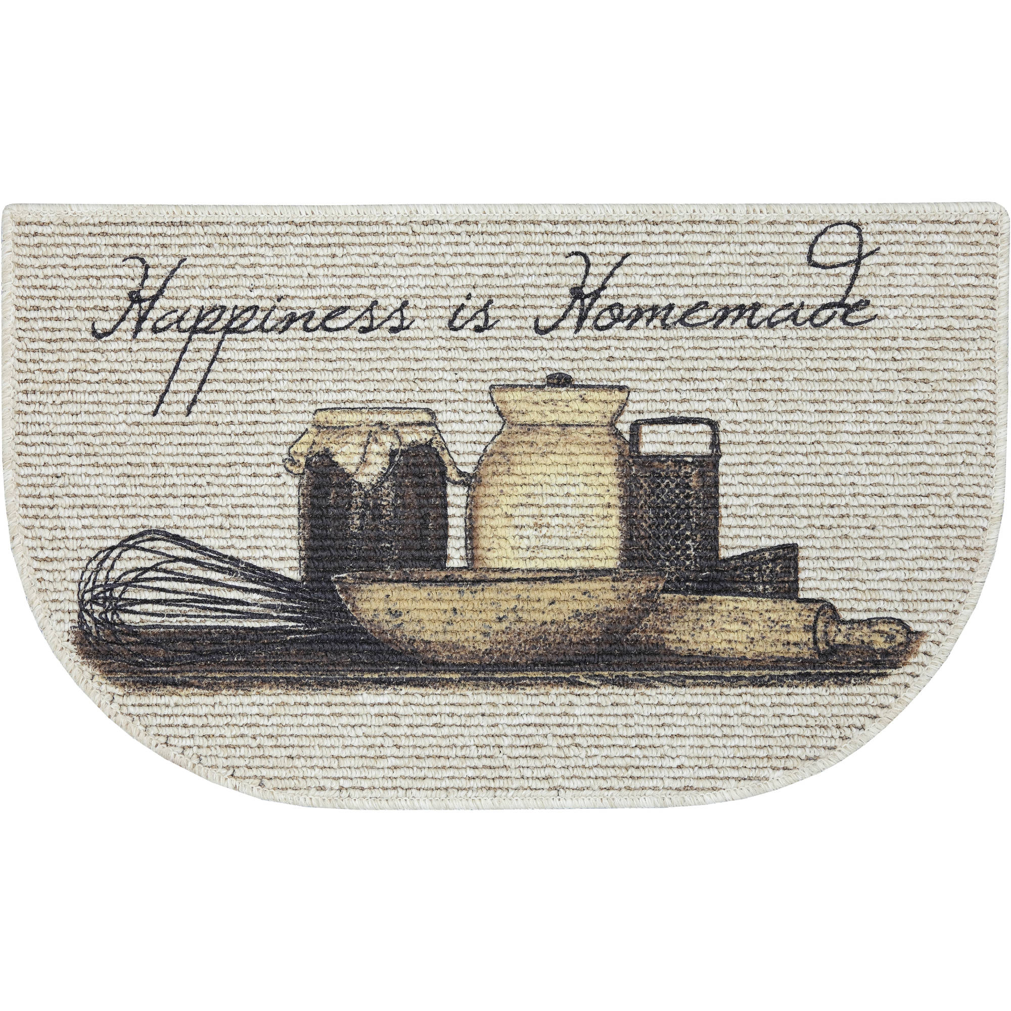 Mainstays Happiness Is Homemade Printed Slice Kitchen Mat