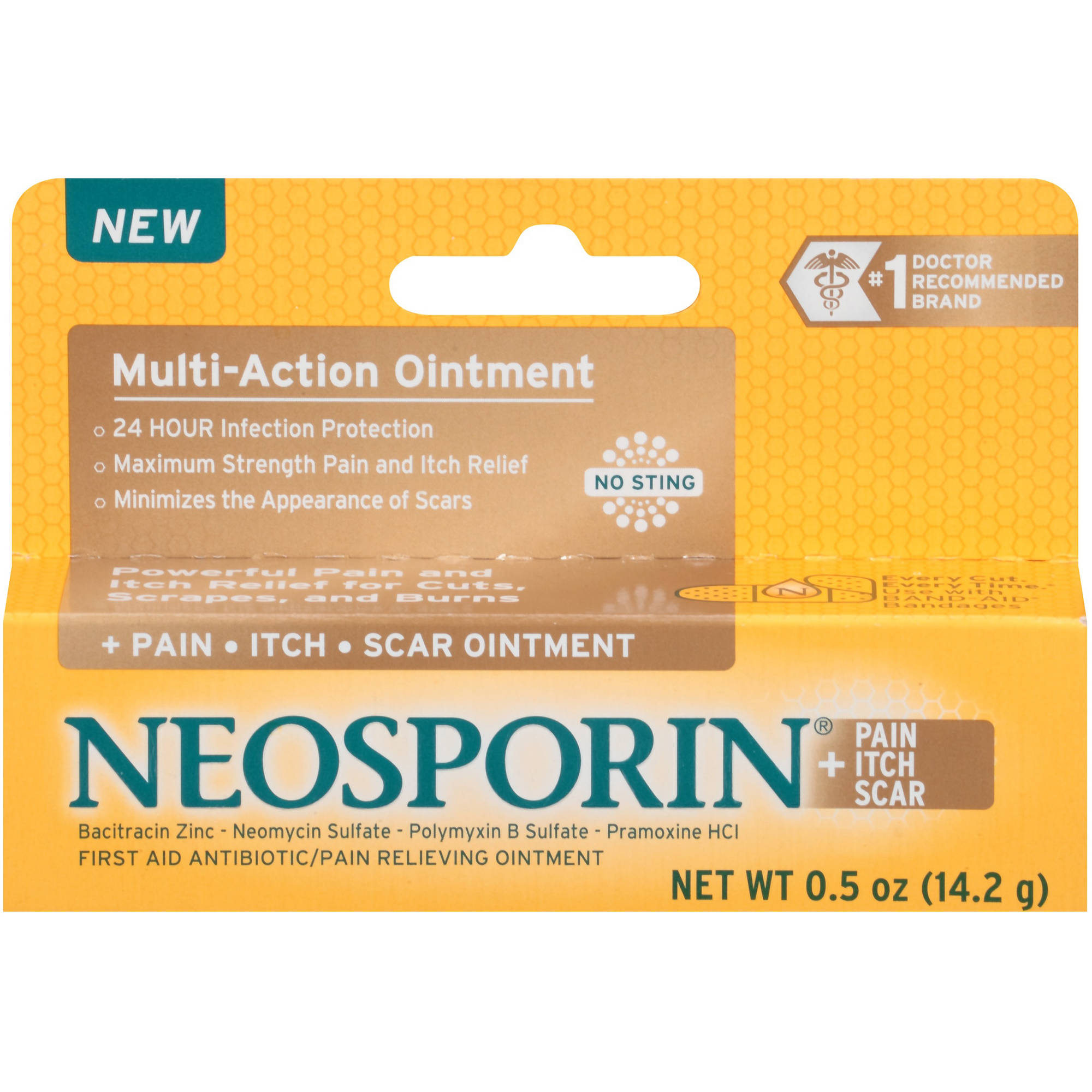 Neosporin + Pain Itch Scar Multi-Action Ointment, .5 oz