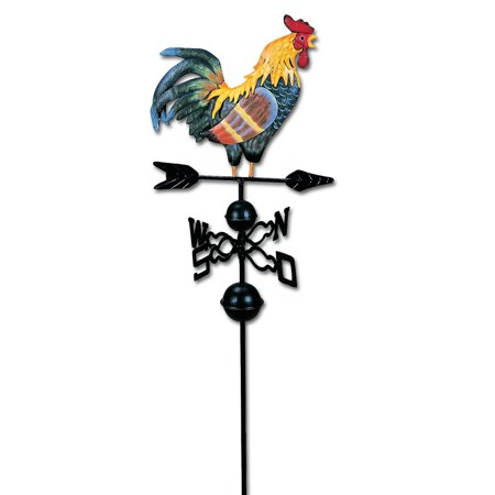 HGC 48 in. Metal Weather Vane with Rooster Ornament