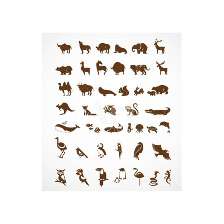 Vector Collection of Animal Icons Print Wall Art By Marish