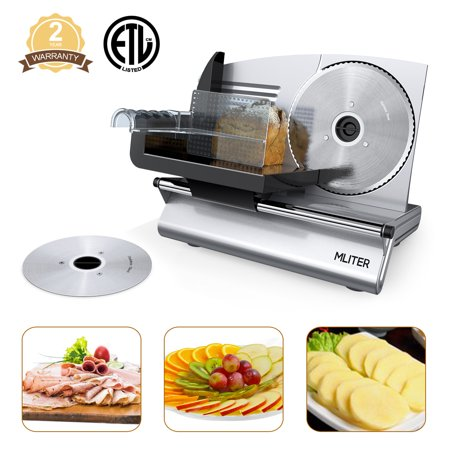 "Mliter FS-9001A Professional Electric Power Food & Meat Slicer with Removable 7.5"" Stainless steel"