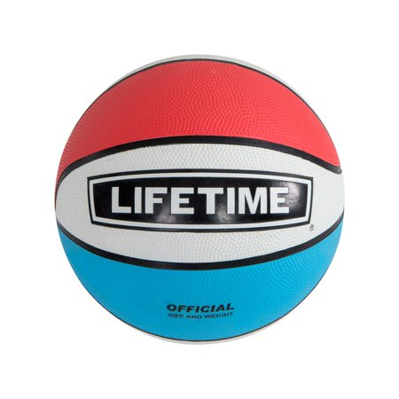 Lifetime 29.5 in Official Size Rubber Basketball, Red, White and Blue, 1069263](Basketballs In Bulk)