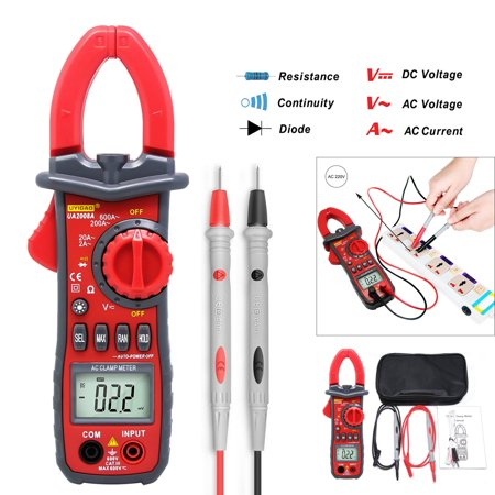 Digital Multimeter Cat - UYIGAO U2008A LCD Digital Clamp 1999 Counts Auto-ranging Multimeter AC DC Voltmeter Ammeter Voltage Current, Resistance, Capacitance, Frequency, Diode