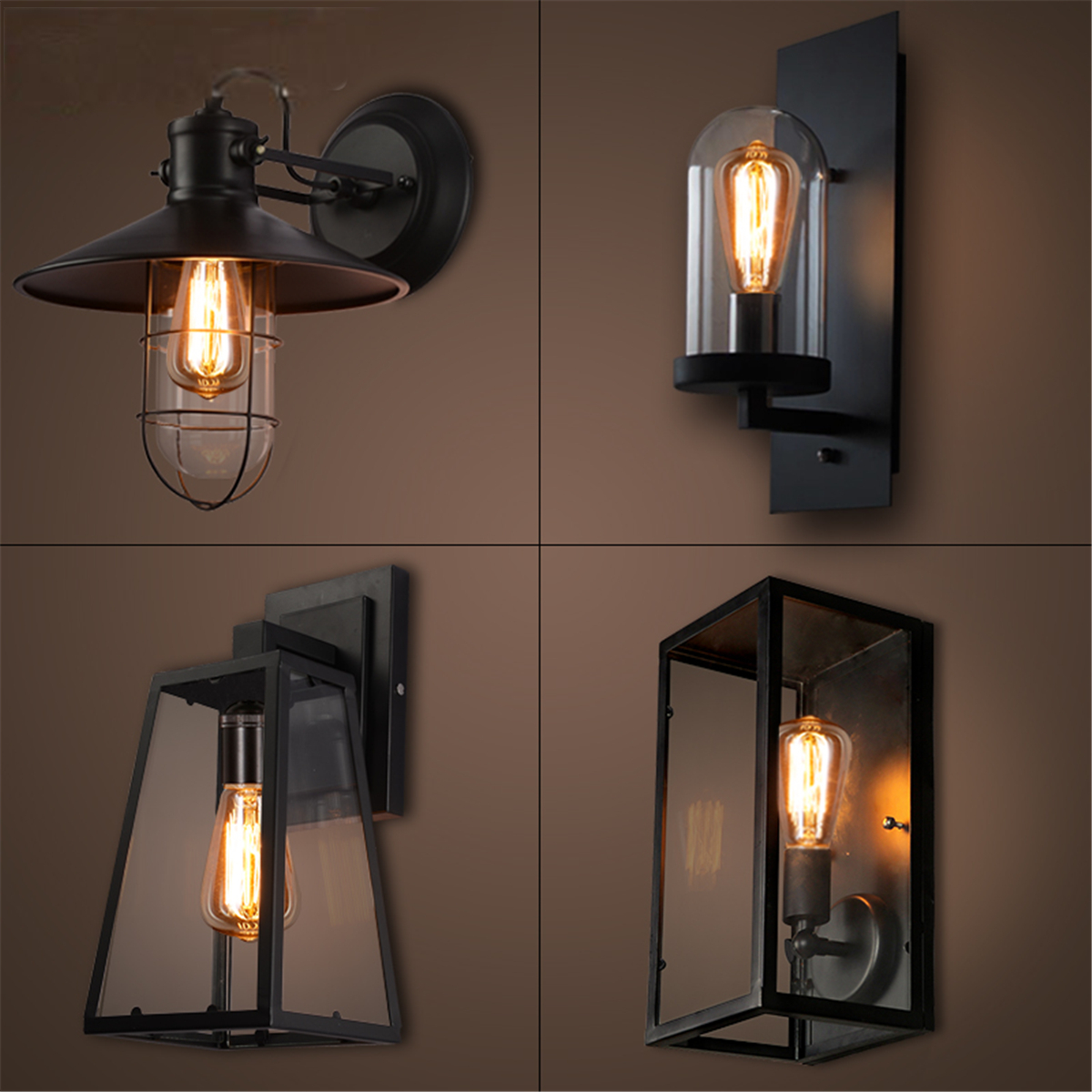 Moaere Wire Cage Wall Sconce Industrial Vintage Wall Lamp