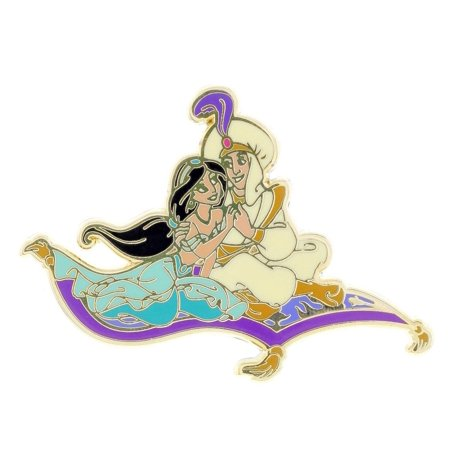 Medal Disney Pin - Disney Parks Aladdin and Jasmine on Magical Carpet Pin New with Card
