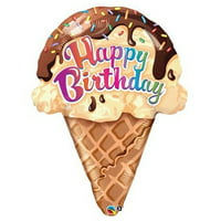 "PIONEER BALLOON COMPANY Birthday Ice Cream Cone Pack, 27"", Multicolor"