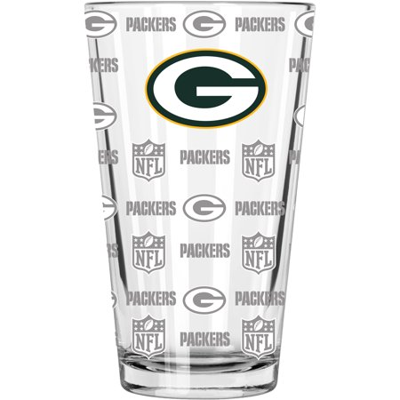 Green Bay Packers 16oz. Sandblasted Mixing Glass - No Size](Glass Monkey Green Bay)