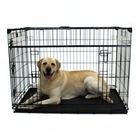 Lucky Dog Sliding Double Door Dog Crate