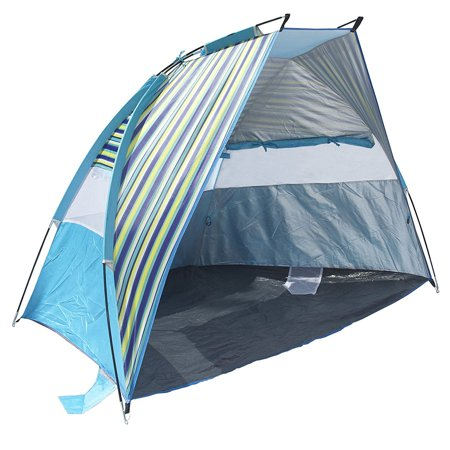 Texsport Calypso Cabana 2 Person Popup Canopy Shade Shelter Beach Tent, Blue