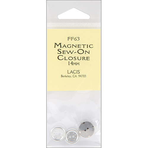 Lacis Magnetic Sew-on Closure 14mm 1//pkg-nickel