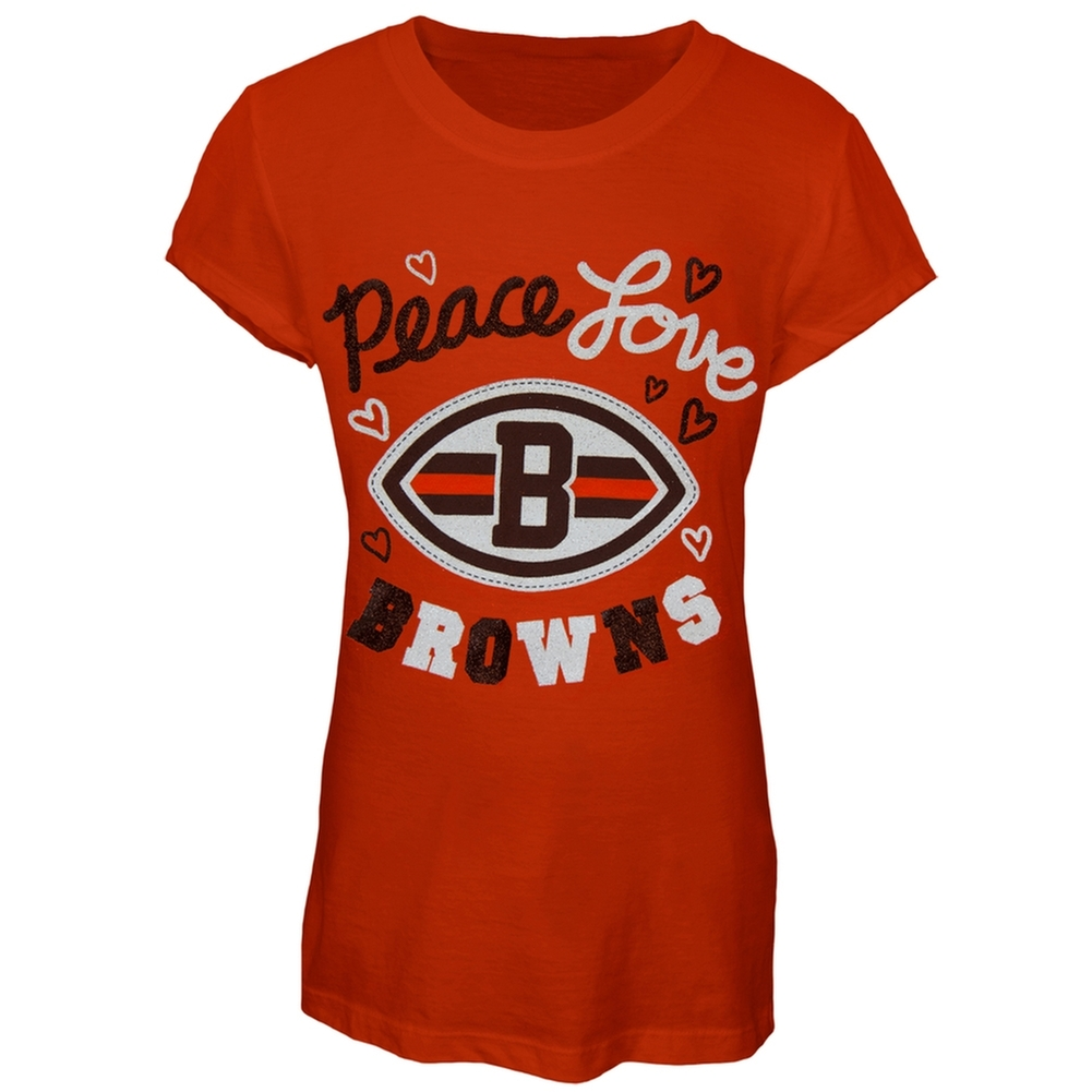 Cleveland Browns - Peace Love Girls Youth T-Shirt