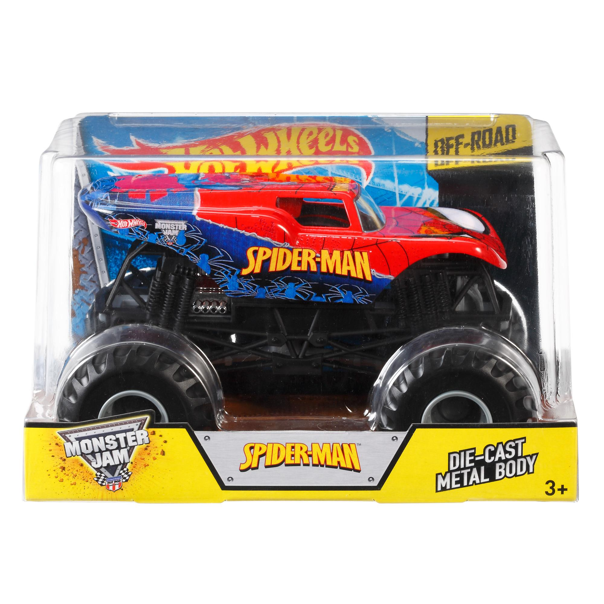 Hot Wheels Monster Jam Spider Man Vehicle Walmart Com