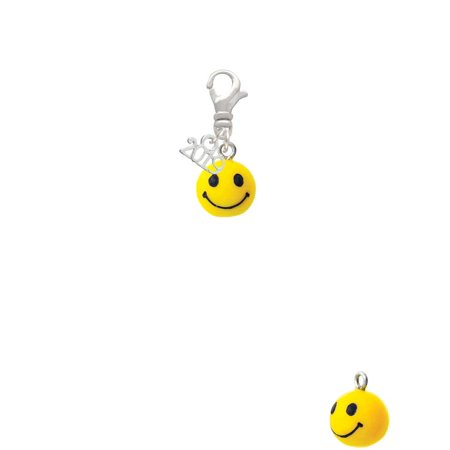 Resin Small 3-D Happy Face - 2019 Clip on Charm