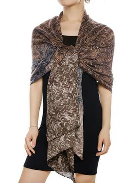 Women's Zig-Zag Print Casual Oblong Scarf Pashmina Wrap