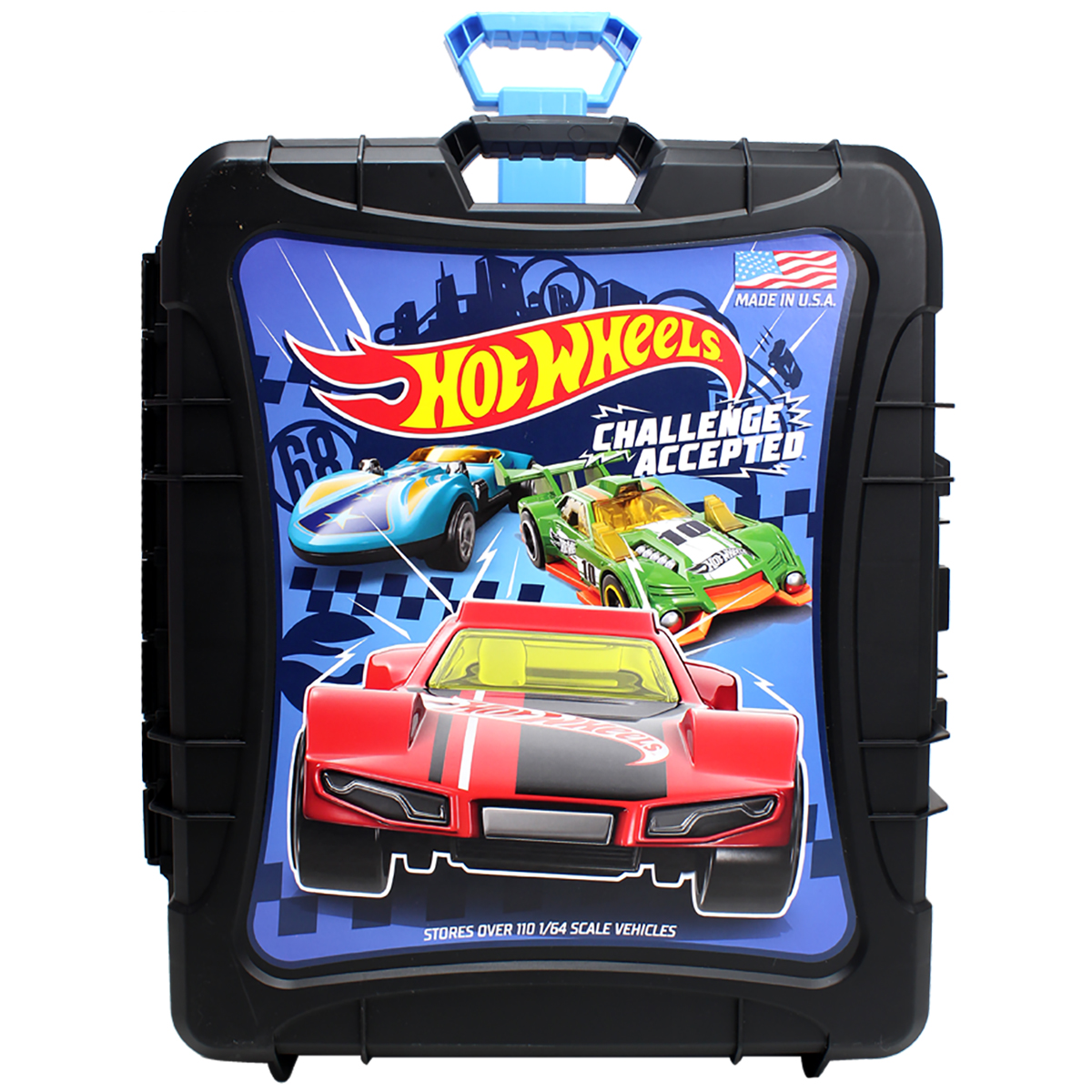 Hot Wheels Metal Car Collecting Case Toy Childrens Kids Storage Large Fit 50 Car