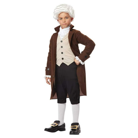 Child Boy Colonial Man or Benjamin Franklin Costume by California Costumes (Ben Franklin Costume Kit)