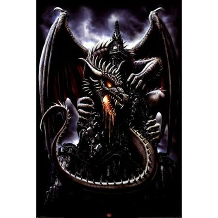 Spiral - Dragon Lava Poster Print (24 x 36) - Walmart.com