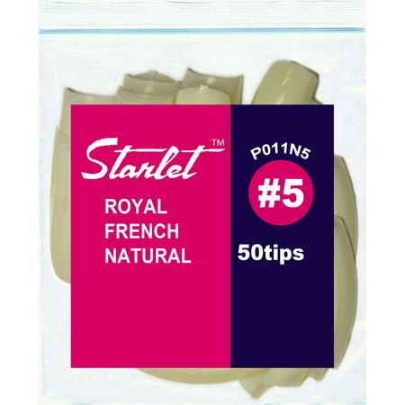 Starlet Royal French Natural #5 Nail Tips - Starlet Slip