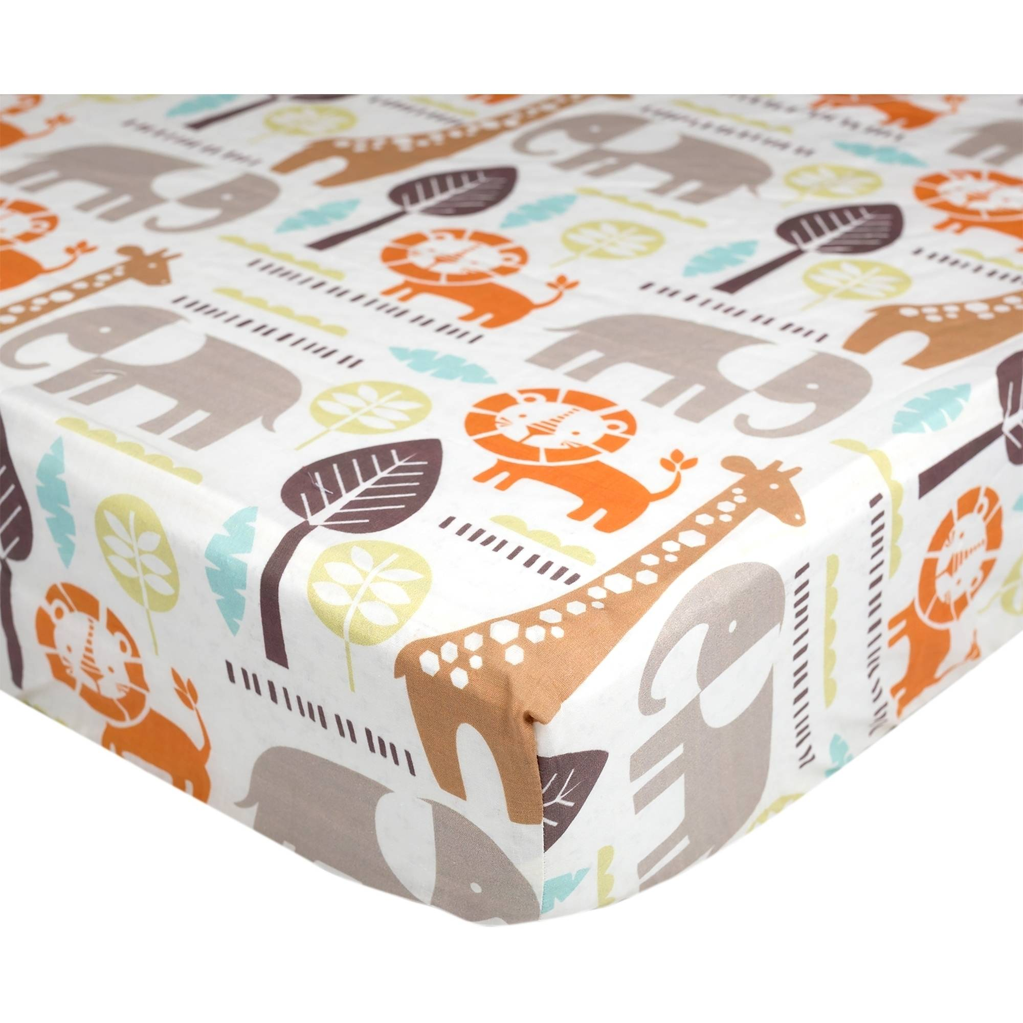 Poppi Living Safari Premium Cotton Fitted Crib Sheet