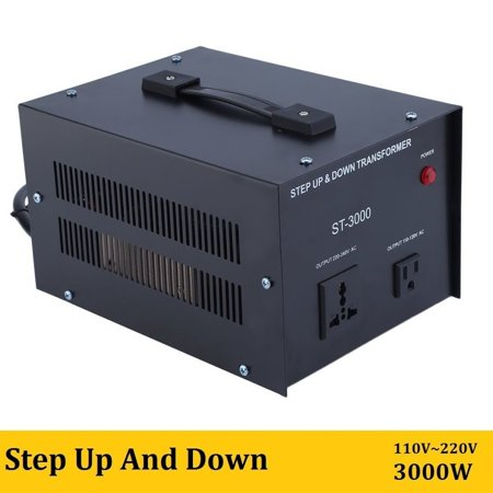 Elc T 3000 Watt Voltage Converter Transformer Step Up Down Circuit Breaker Protection