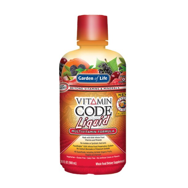 Garden Of Life Vitamin Code Liquid Fruit Punch 30 Oz Walmart Com Walmart Com