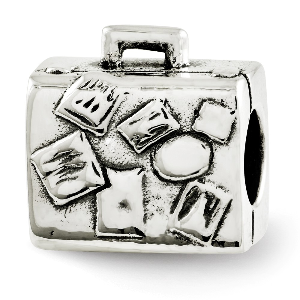 Sterling Silver Reflections Suitcase Bead
