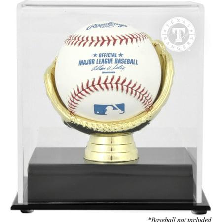 Texas Rangers Fanatics Authentic Gold Glove Single Baseball Logo Display Case - No Size