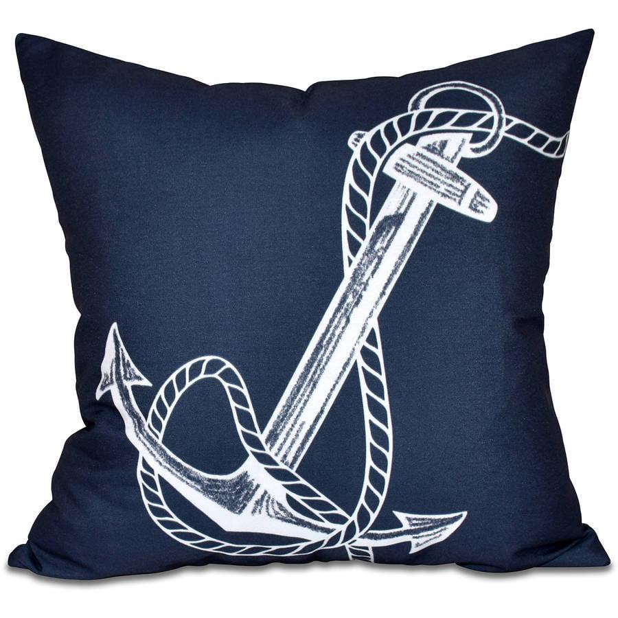 "Simply Daisy 16"" x 16"" Anchored Geometric Print Pillow"