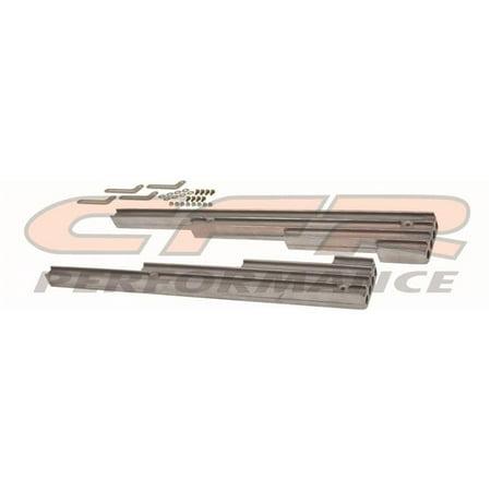 CFR HZ-6061-3-POL 9.5 mm Aluminum Billet Wire Loom Set Finned - Polished - Chevy, Ford & Mopar
