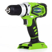 Greenworks 24V Cordless Speed Compact Drill, Battery Not Included 37012A