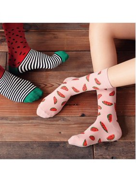 b13192690f4 Product Image Girl12Queen Casual Women Winter Cotton Fruit Watermelon  Printing Breathable Long Socks