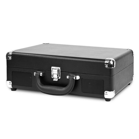 Victrola Classic Portable Suitcase Record Player Turntable with 3-Speeds, Black