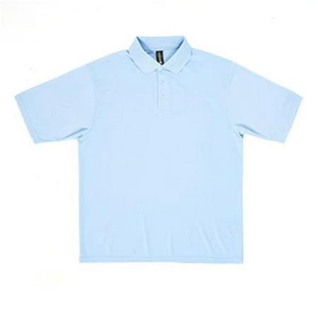 74ee68bce0eb8 Dunbrooke - Dunbrooke 3560 Mens Team Polo T Shirt  44  Light Blue - Small -  Walmart.com