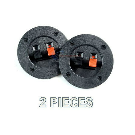 2 PACK  SPEAKER ROUND BOX SPEAKER TERMINAL CUP SPRING POST SUBWOOFER SPEAKER (The Best Speaker Box)